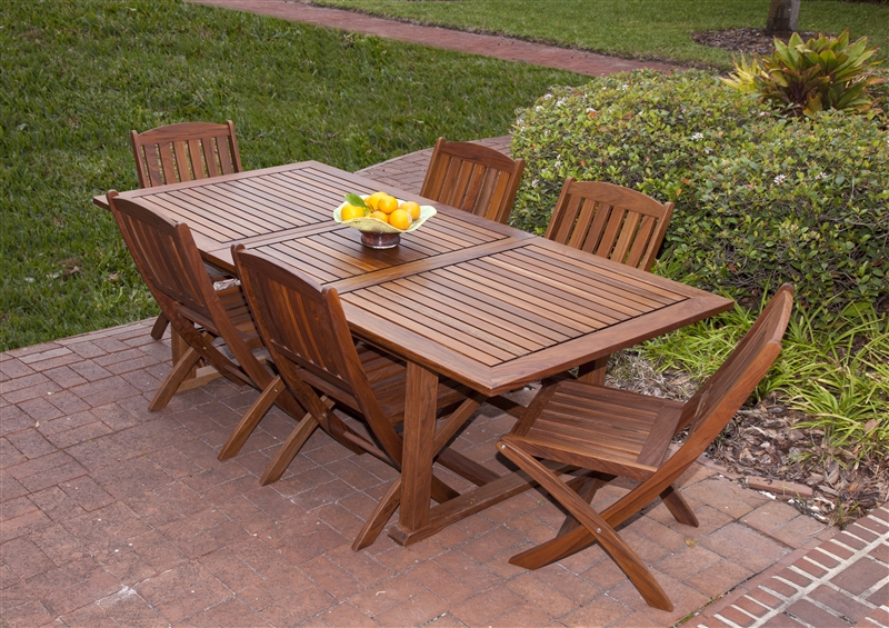 Ipe wood outdoor furniture ipe furniture for patio for Patio sets for small decks
